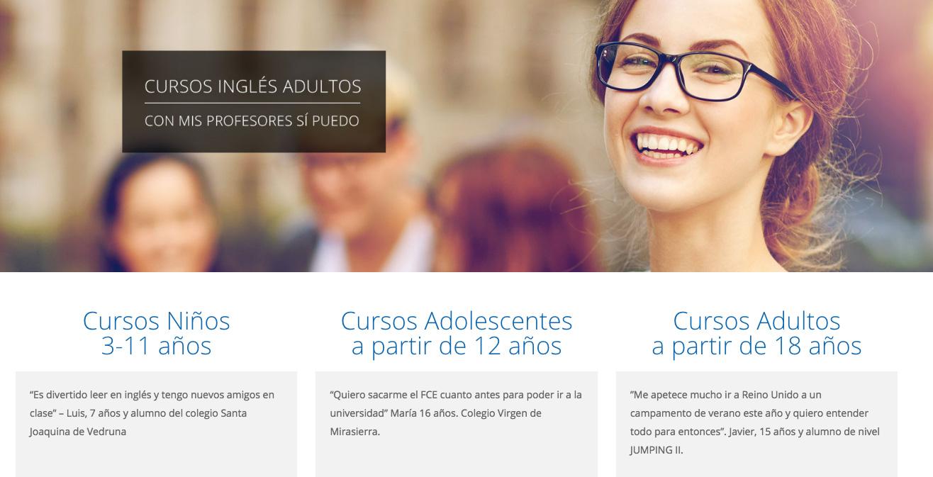 Nuevas web Talk Talk Idiomas